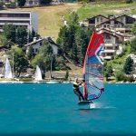 Foiling on lake St. Moritz